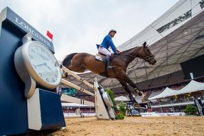 Germany's Christian Ahlmann competing in the Longines Equestrian Beijing Masters 2017.